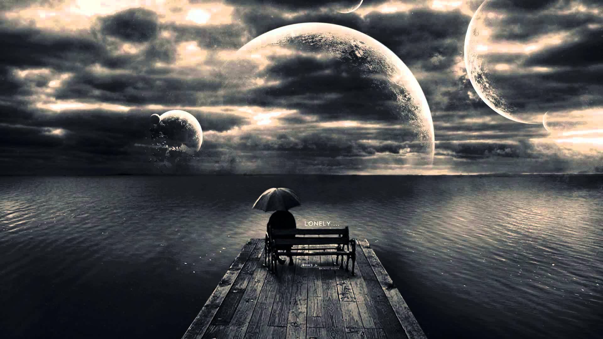 Hình nền mang tâm trạng buồn, cô đơn chờ đợi