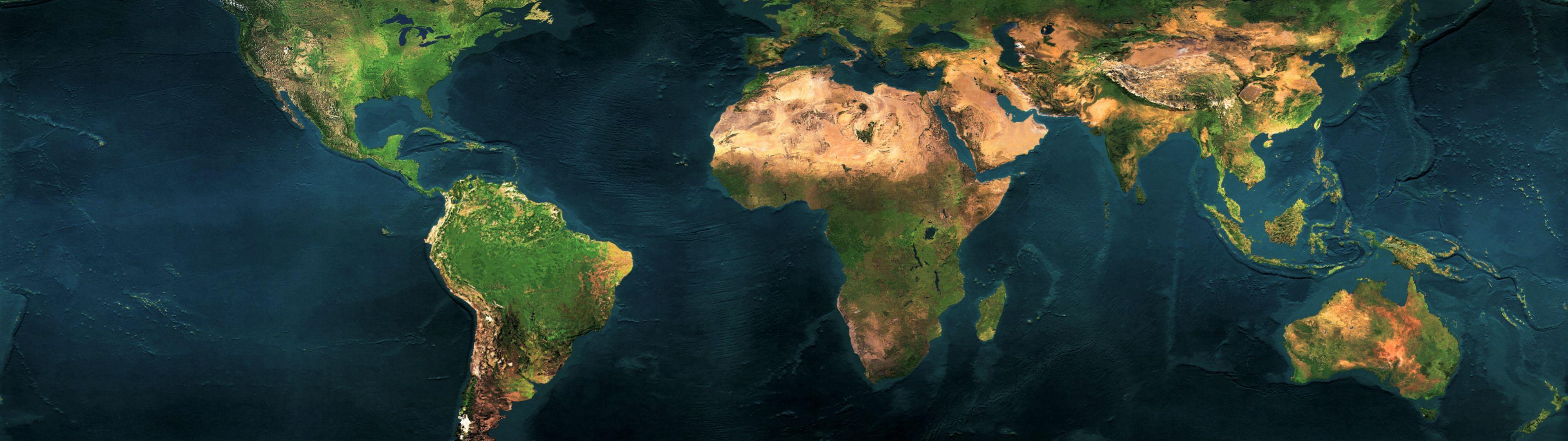 Hình nền dual monitor thế giới