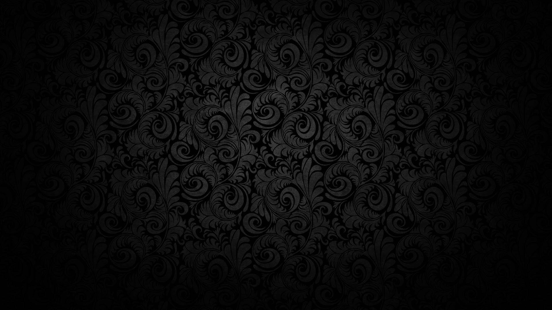 Hình nền đen hoa văn đẹp