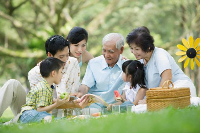 Ảnh đẹp gia đình nhiều thế hệ