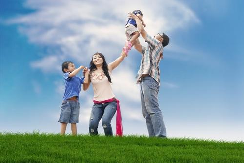 Ảnh gia đình hạnh phúc