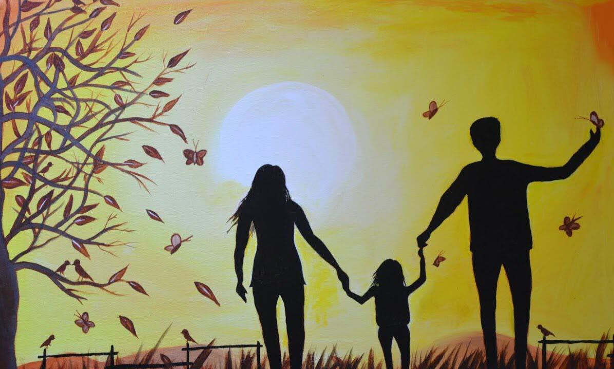 Ảnh vẽ gia đình đẹp nhất