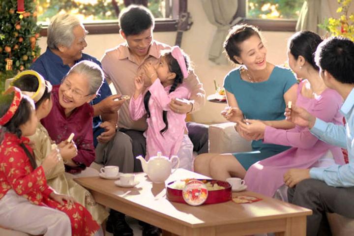 Hình ảnh gia đình sum vầy