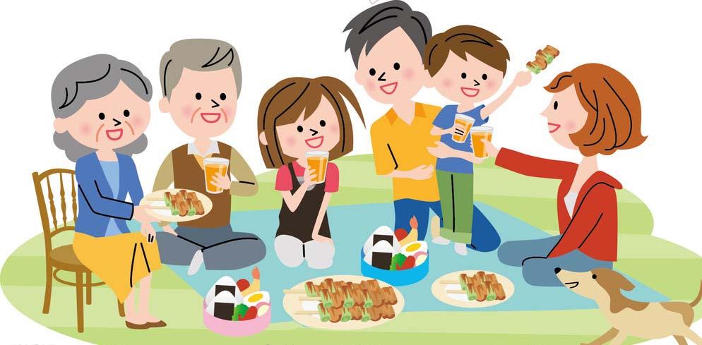 Hình ảnh hoạt hình về gia đình
