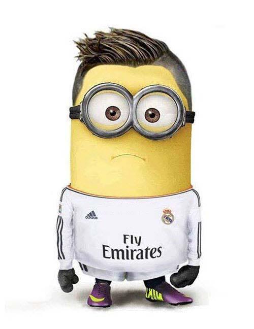 Hình ảnh minion bóng đá