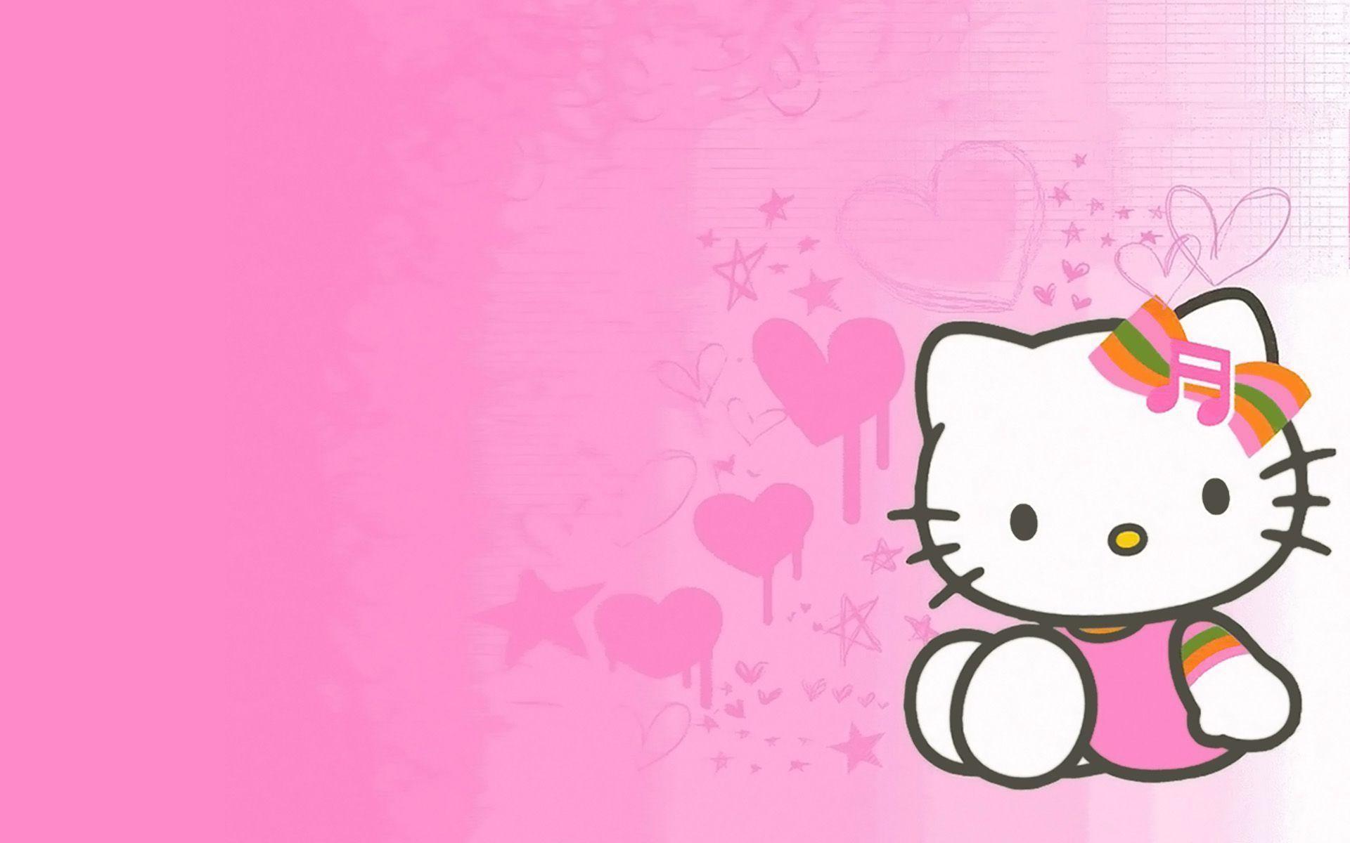 Hình nền kitty màu hồng