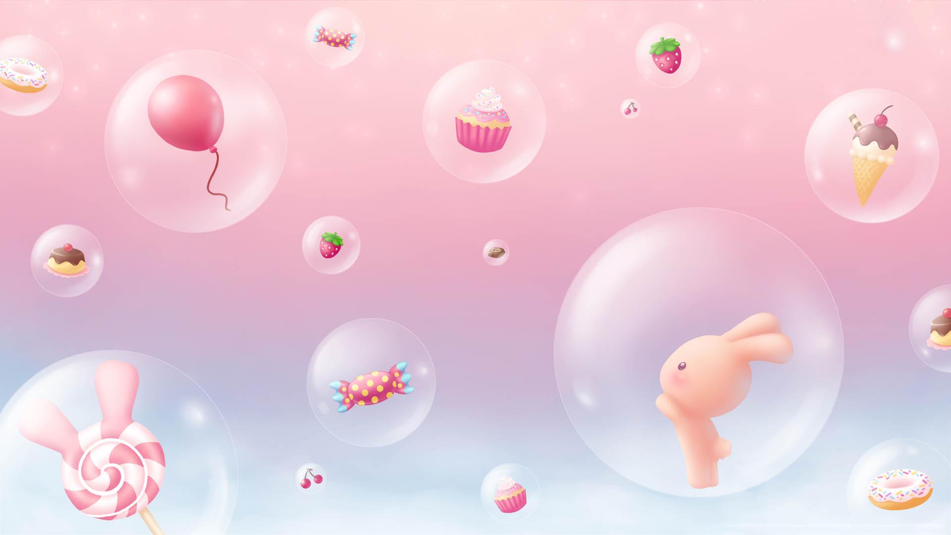 Hình nền màu hồng cute