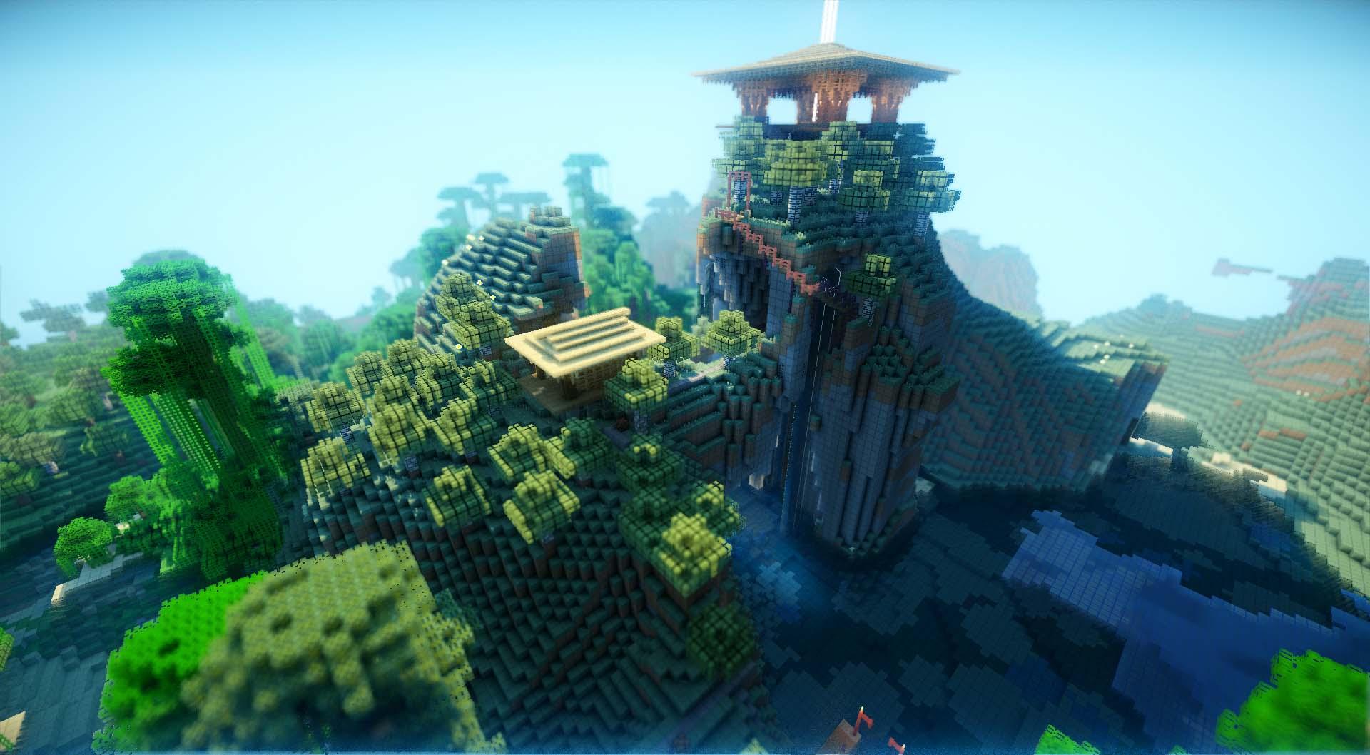 Hình nền minecraft 3D đẹp