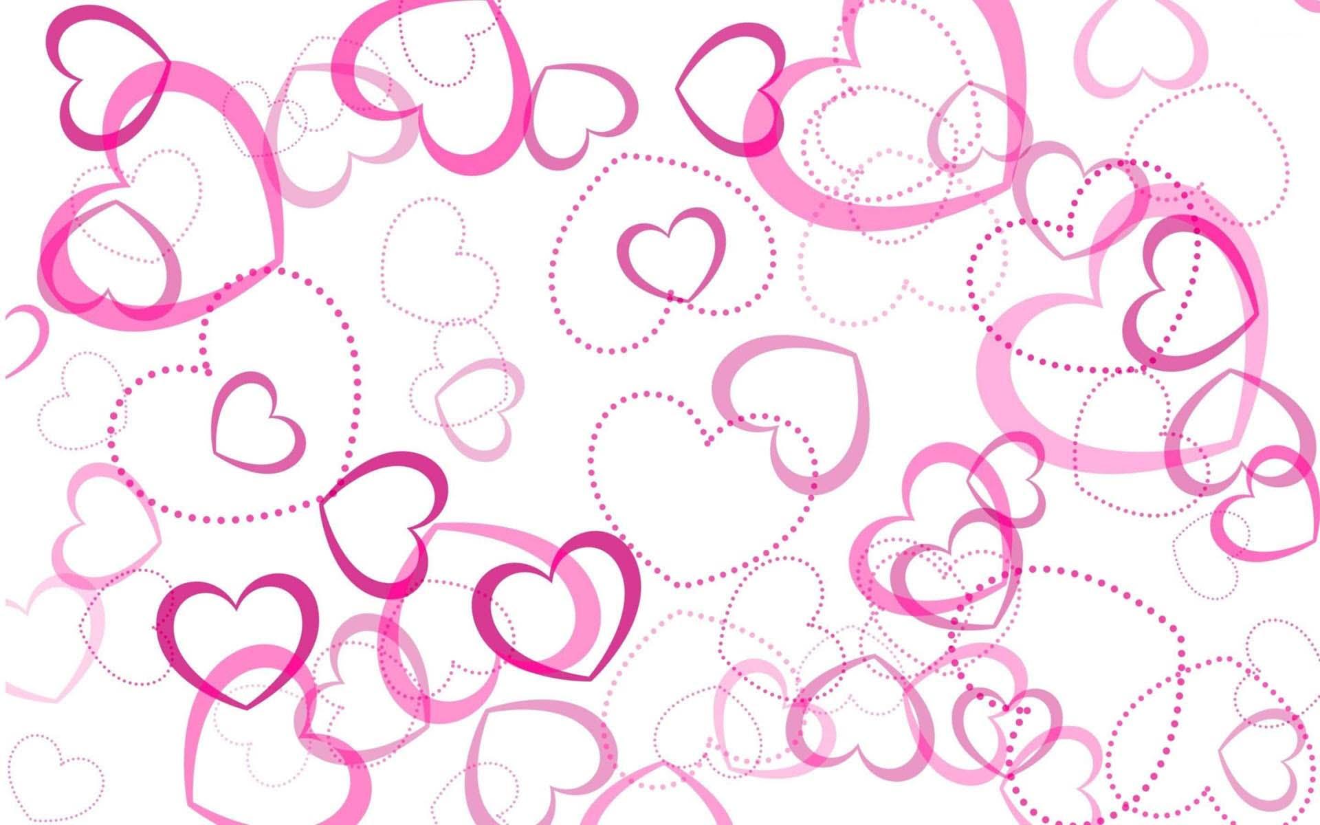 Hình nền trái tim màu hồng cute