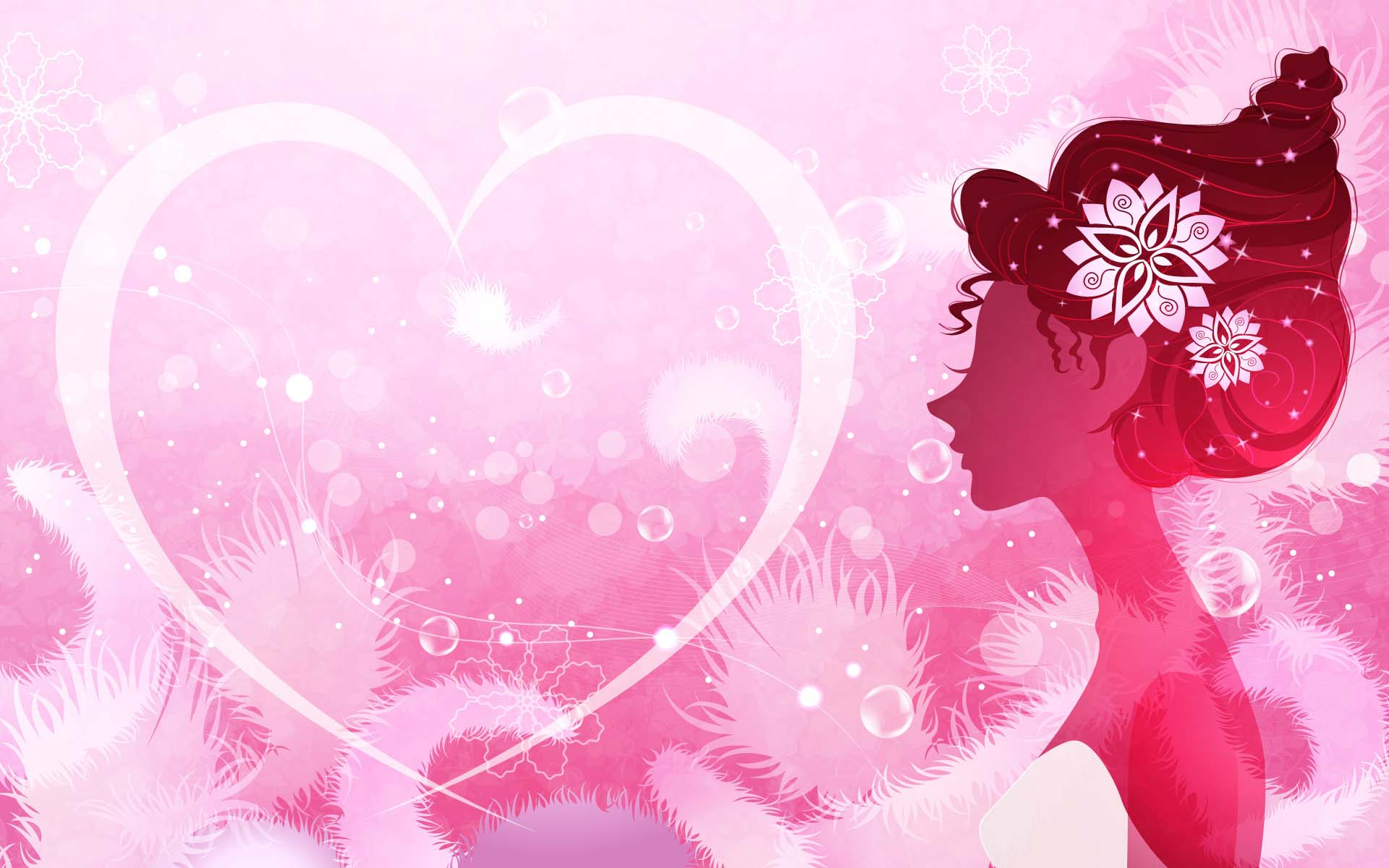 Hình nền trái tim màu hồng