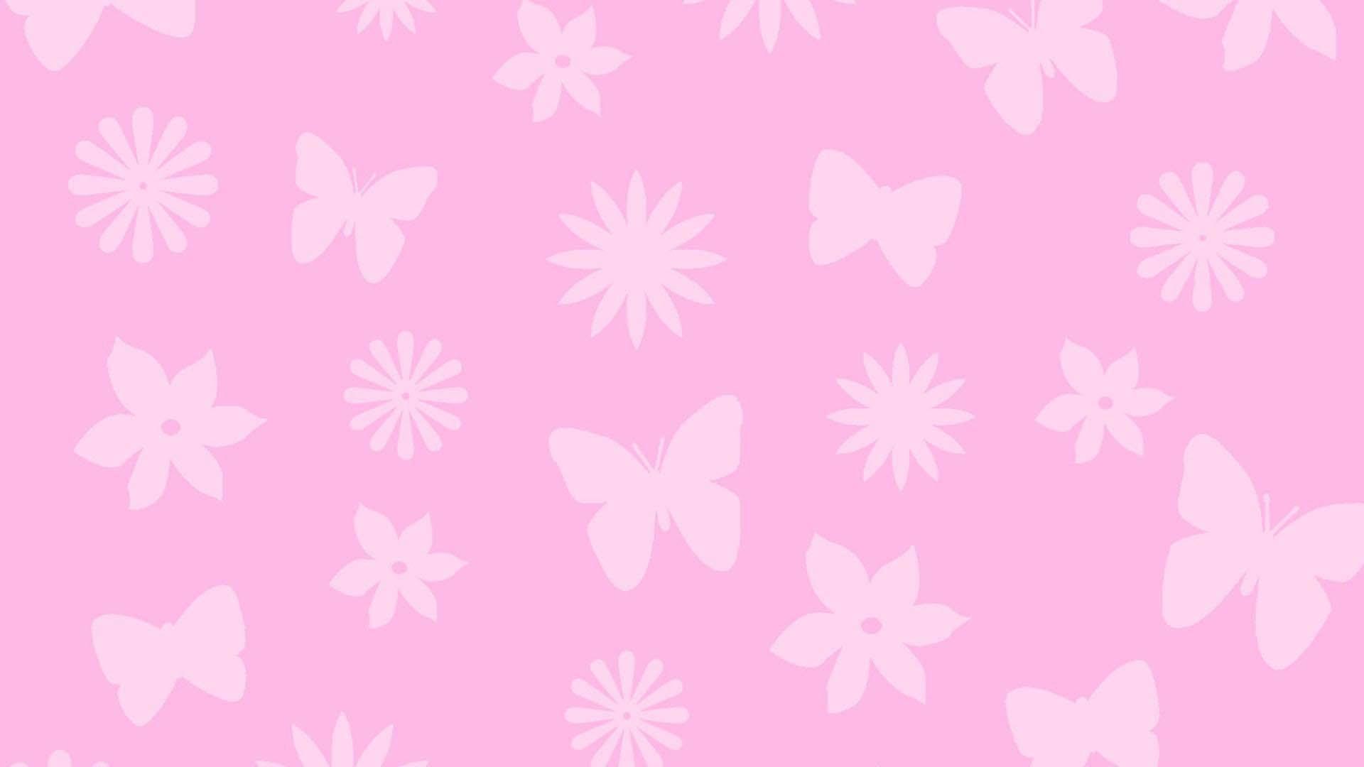 Hình wallpaper màu hồng dễ thương