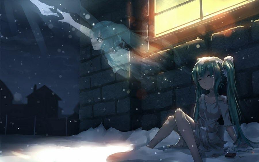 Ảnh anime buồn đáng yêu