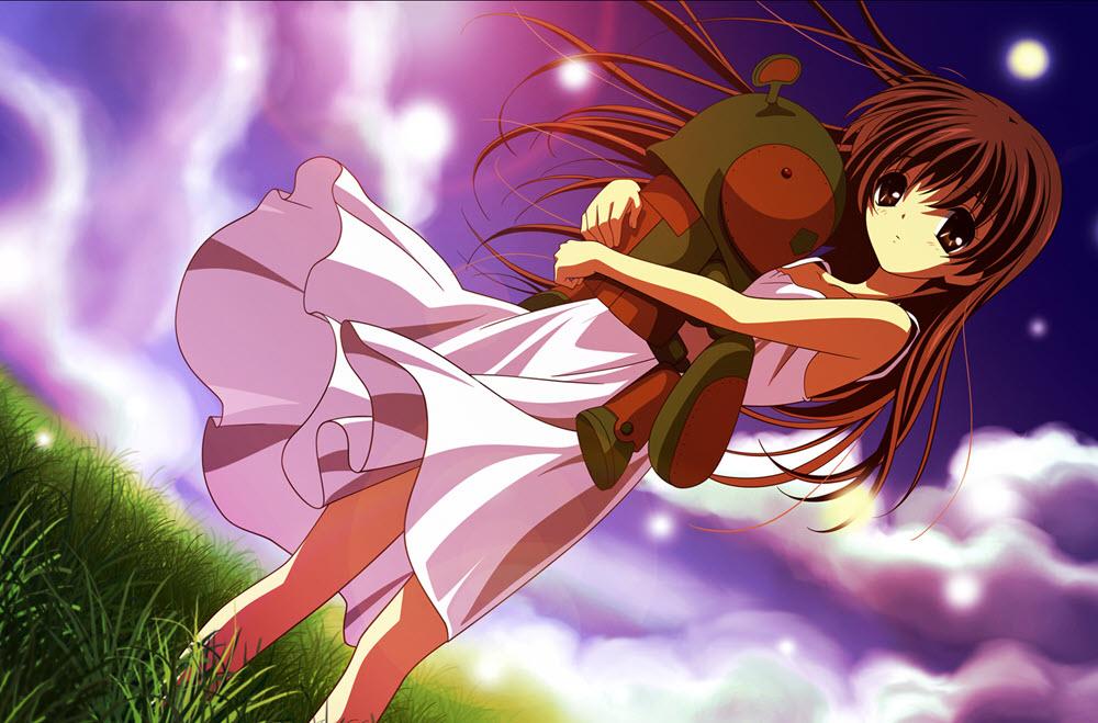 Ảnh anime girl buồn dễ thương