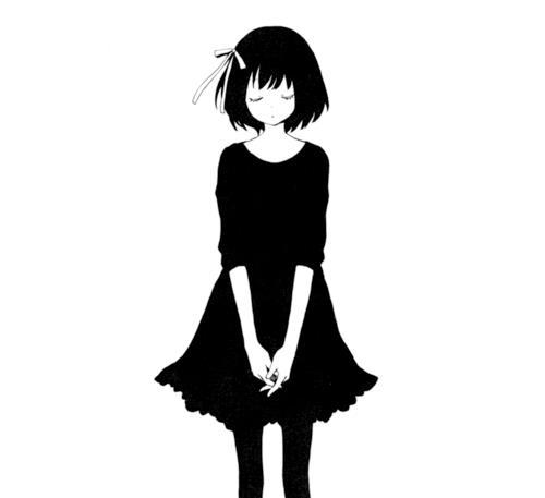 Ảnh trắng đen anime buồn