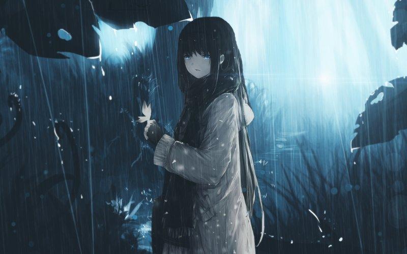Hình ảnh anime buồn girl cô đơn