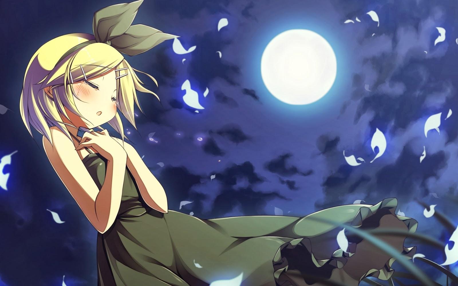 Hình ảnh anime girl buồn và cute