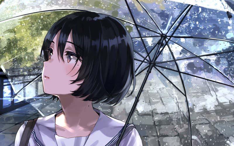 Hình ảnh anime girl tâm trạng buồn