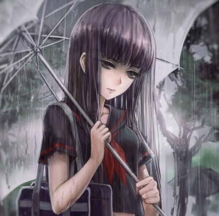 Hình ảnh anime tâm trạng buồn