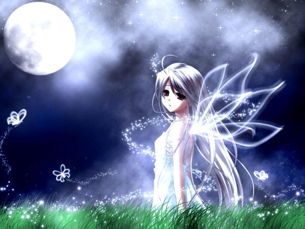 Hình ảnh anime thiên thần buồn