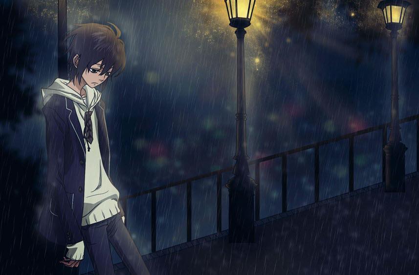 Hình ảnh cô đơn anime boy