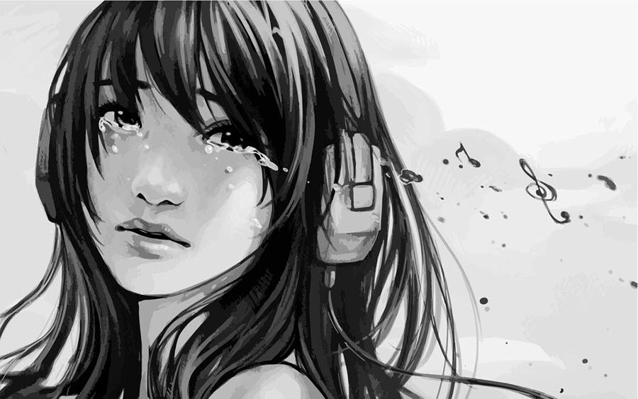 Hình ảnh girl anime buồn nhất