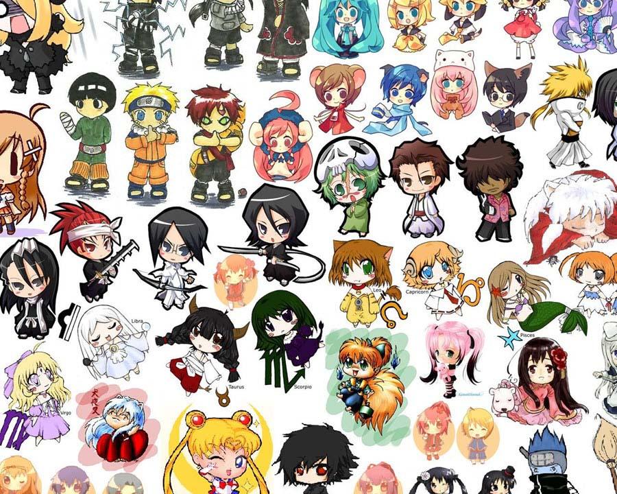 Những hình ảnh nhân vật anime chibi