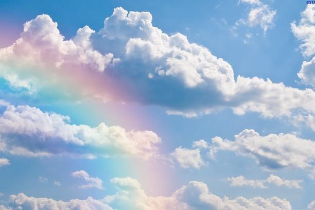 Ảnh bầu trời cầu vồng đẹp