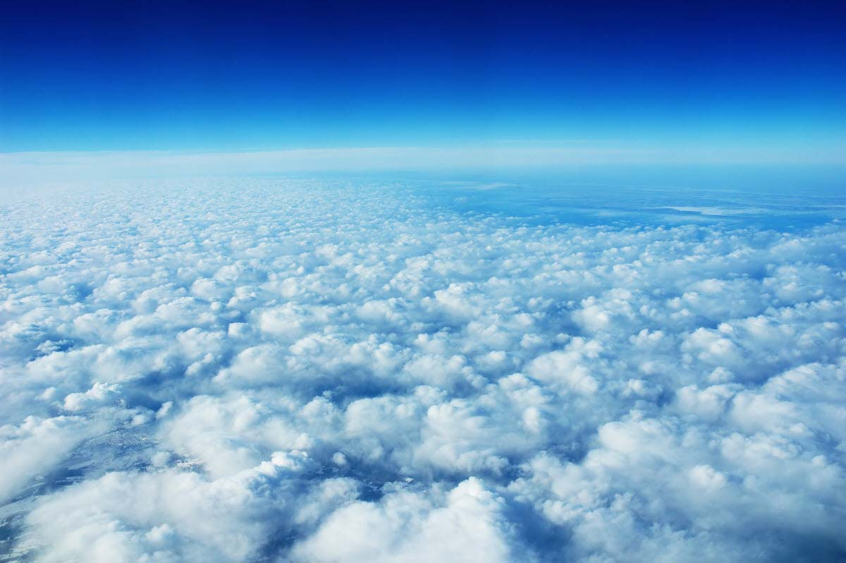 Ảnh bầu trời mây trắng đẹp