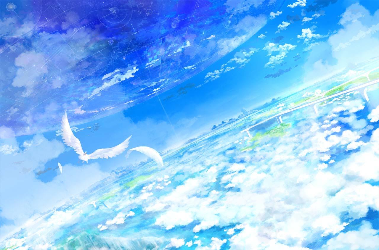 Hình ảnh bầu trời 3D anime đẹp nhất