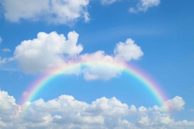 Hình ảnh bầu trời cầu vồng đẹp