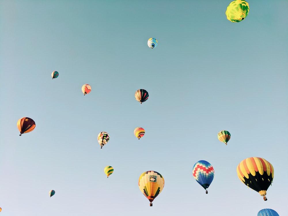 Hình ảnh bầu trời khinh khí cầu đẹp