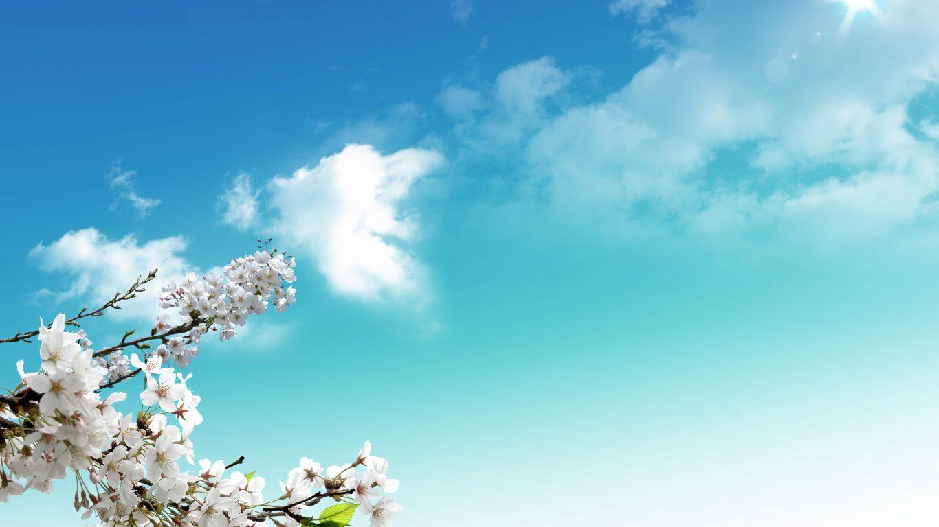 Hình ảnh bầu trời mùa xuân