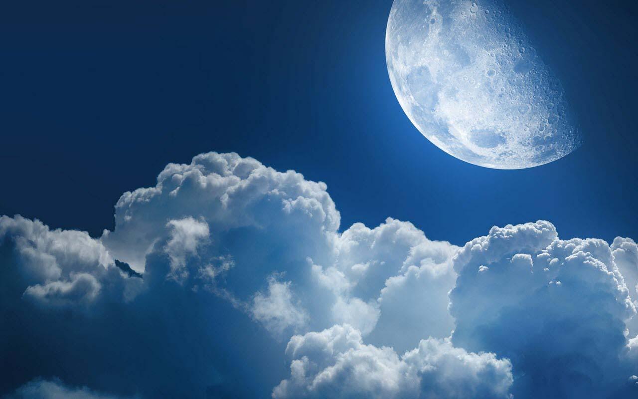 Hình ảnh bầu trời trăng đẹp