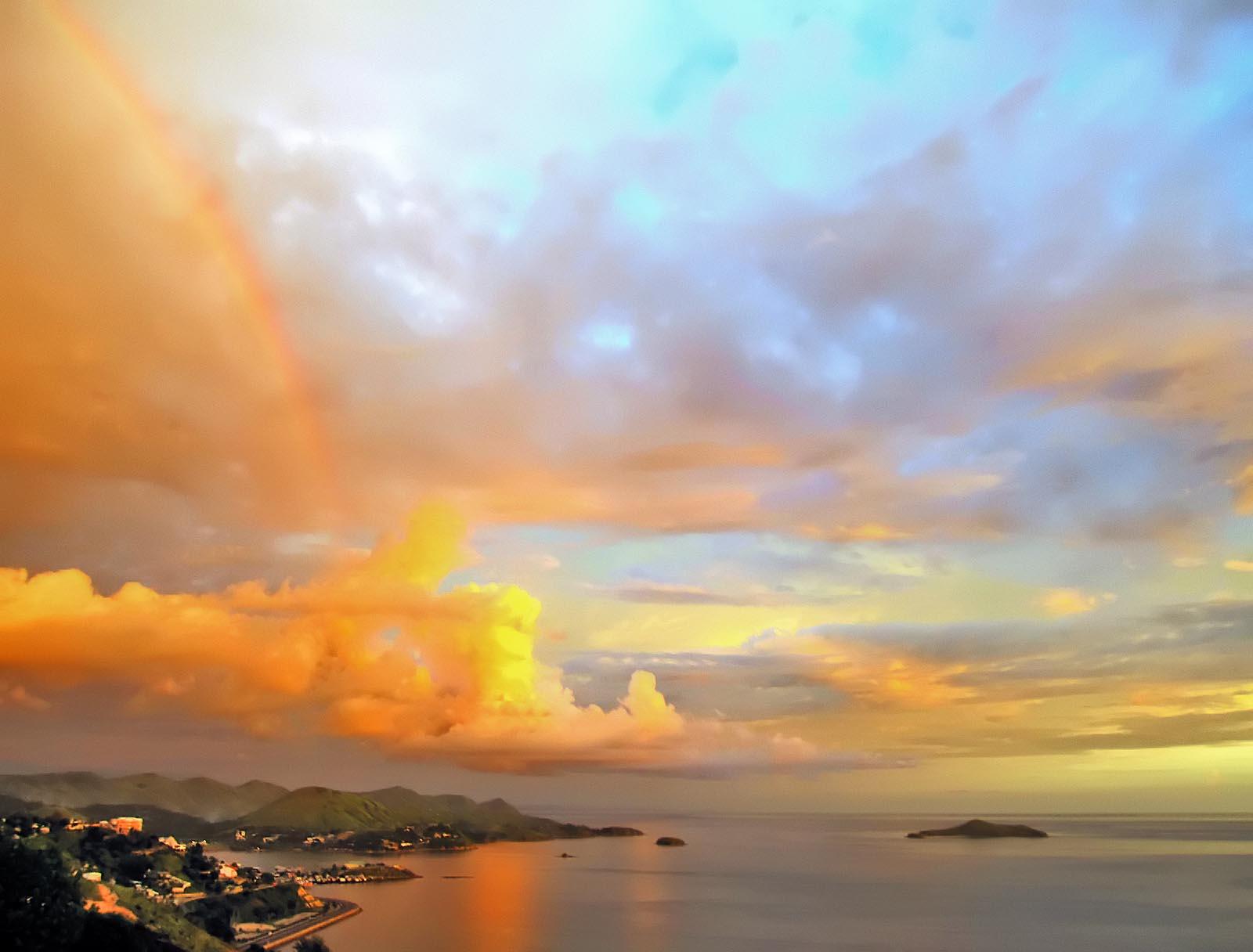 Hình ảnh bầu trời vàng đẹp