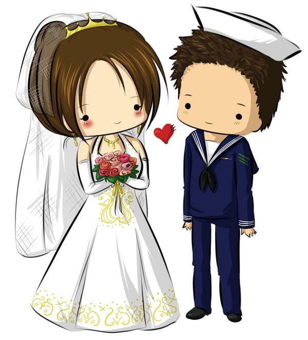 Hình ảnh chibi cô dâu chú rể đẹp nhất