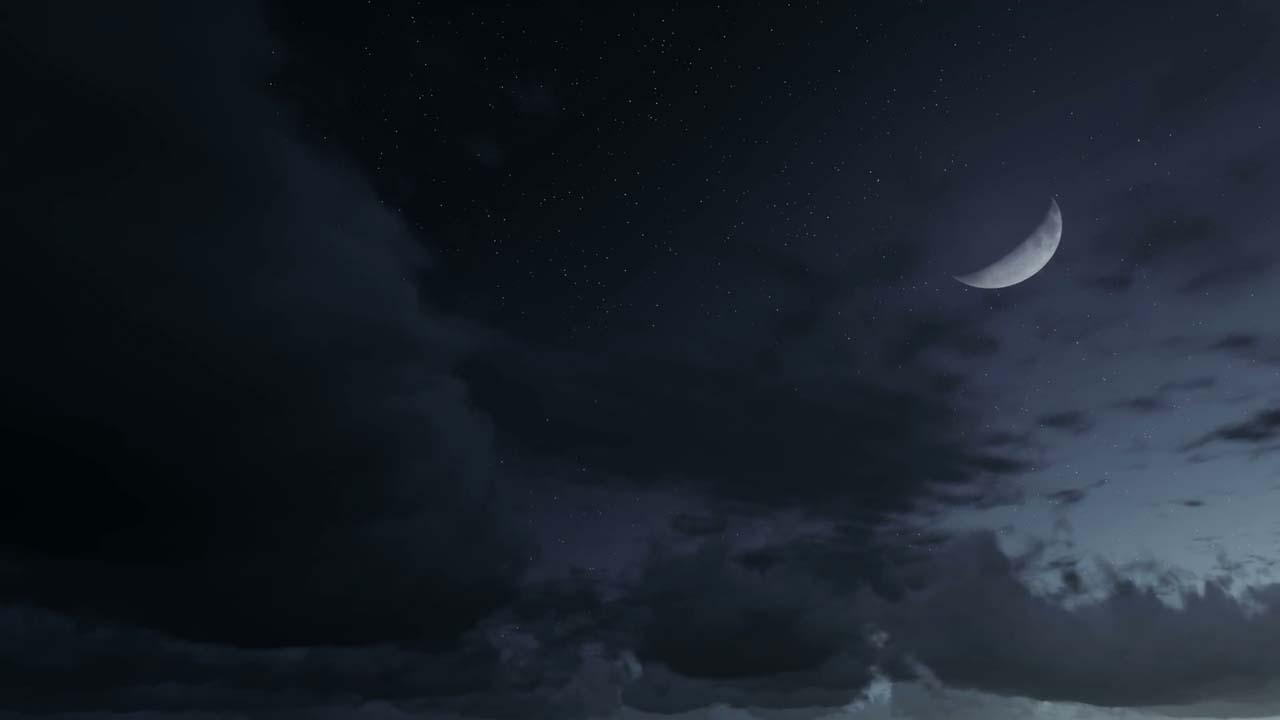 Hình ảnh đẹp bầu trời đêm trăng