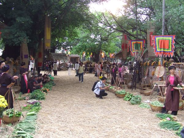 Hình ảnh đẹp làng quê mùa lễ hội