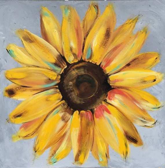 Hình ảnh hoa hướng dương vẽ