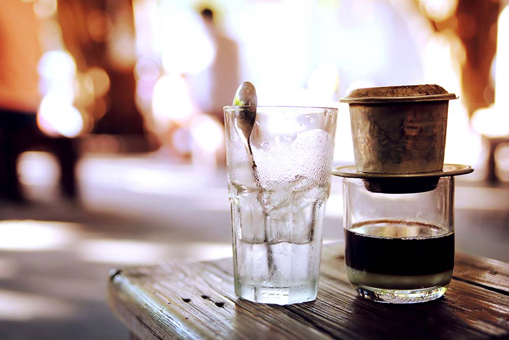 Hình ảnh ly cafe sữa đá Sài Gòn