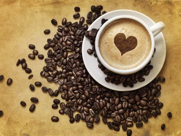 Hình ảnh ly cafe trái tim