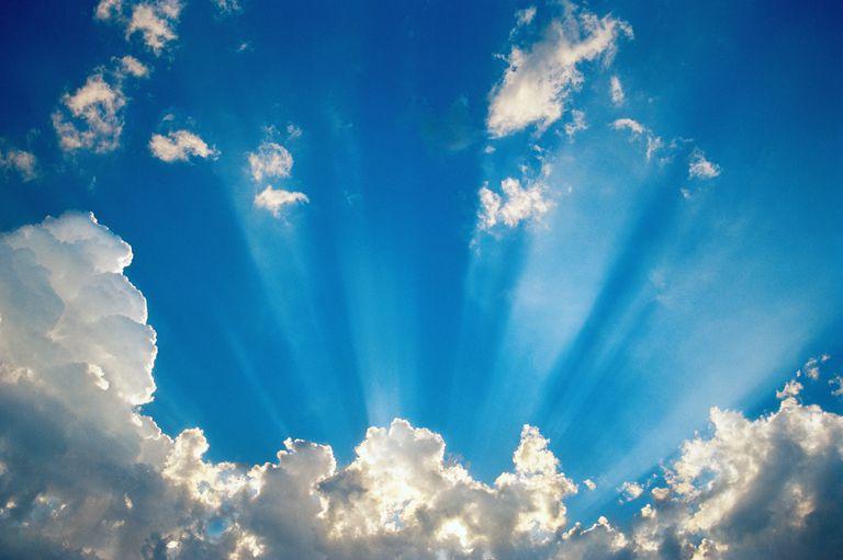Hình ảnh tia nắng bầu trời đẹp