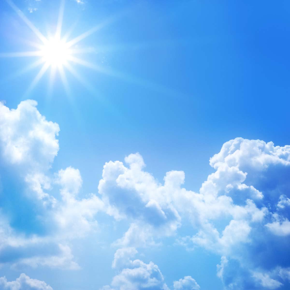 Hình ảnh trời năng trong xanh đẹp nhất
