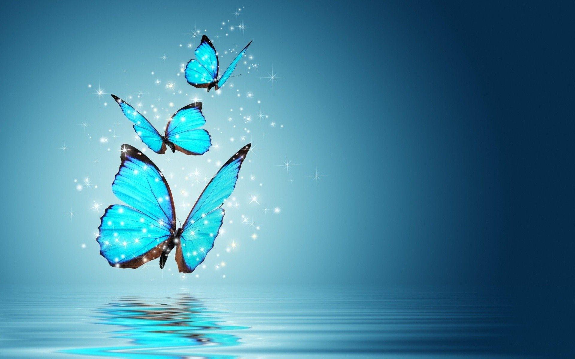 Hình nền những chú bướm 3D dễ thương