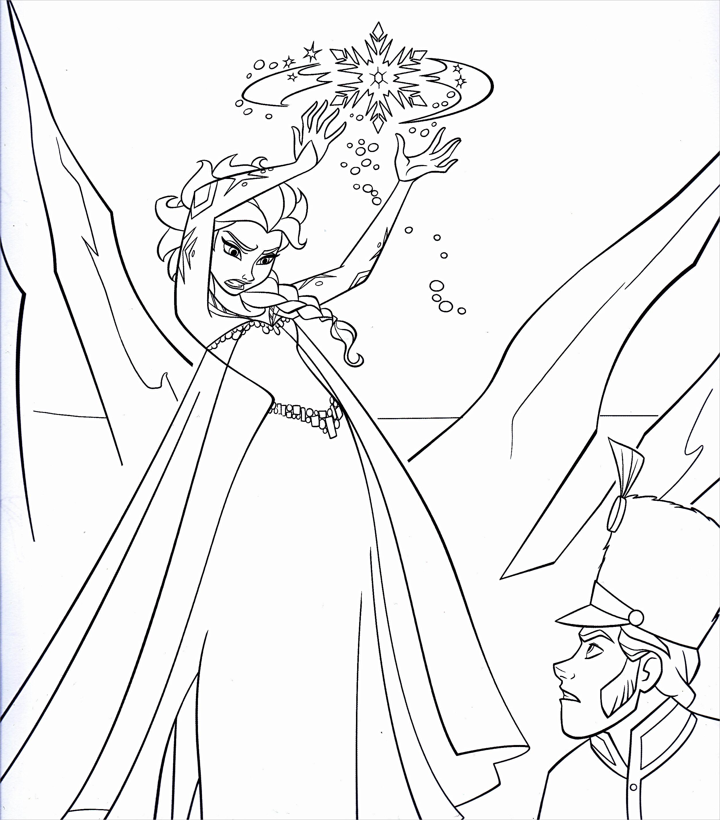 Tranh Elsa tô màu đẹp