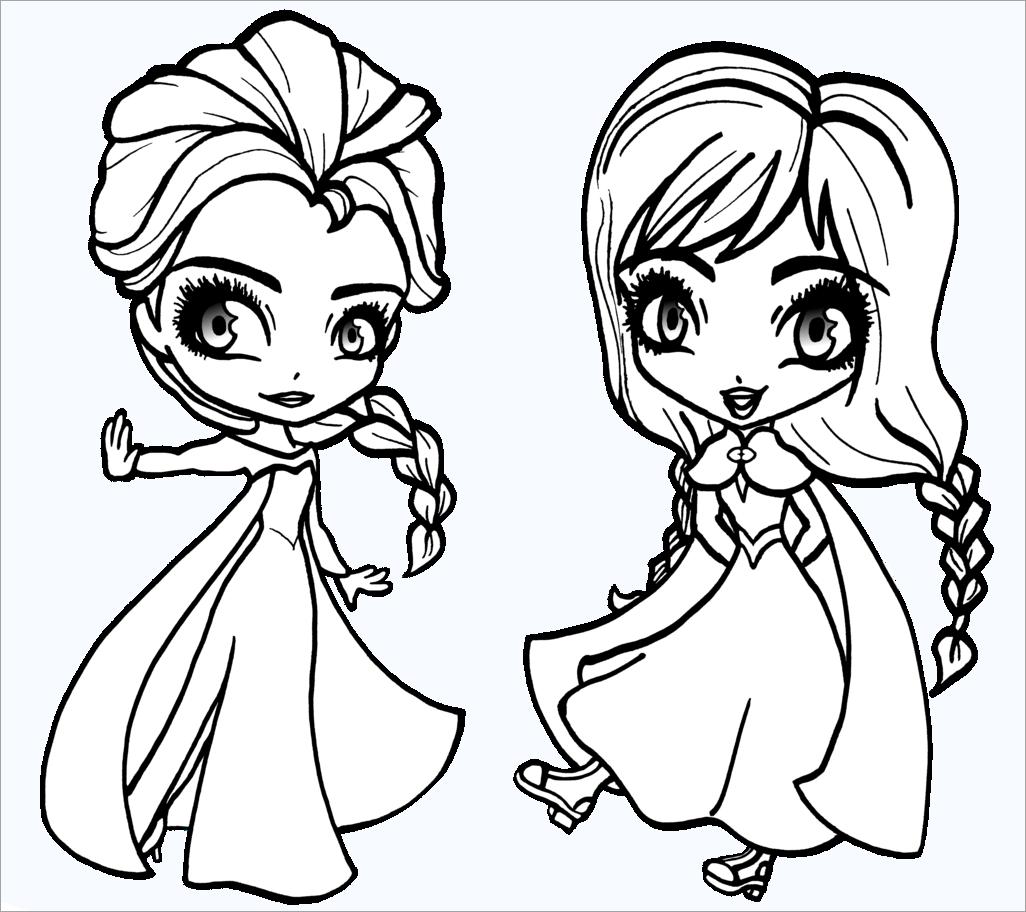 Tranh tô màu công chúa elsa cho bé gái đẹp nhất