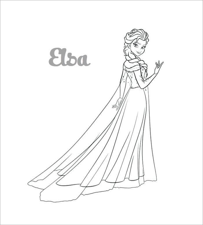 Tranh tô màu Elsa xinh đẹp