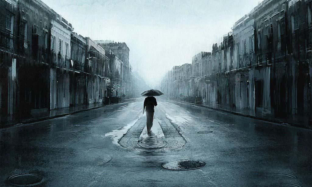 Hình ảnh đẹp buồn trong mưa