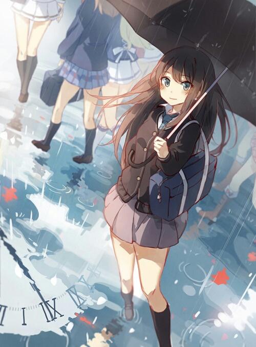 Ảnh anime girl cá tính cầm ô