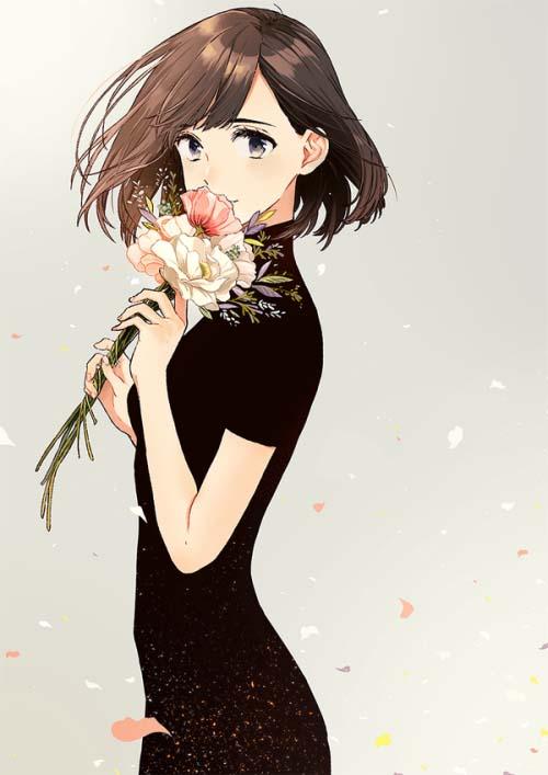Hình ảnh anime girl cá tính cute
