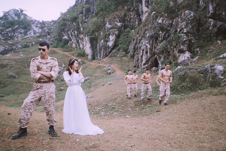 Ảnh cưới đẹp phong cách phim Hàn